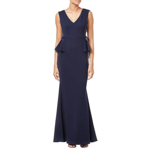 Adrianna Papell Midnight Long Knit Crepe Dress