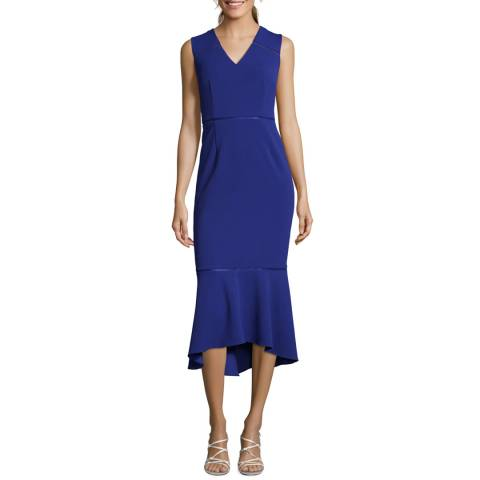 Adrianna Papell Cyprus Blue Knit Cropped Dress