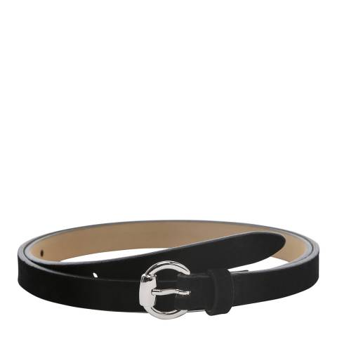 Laycuna London Women's Skinny Black Suede Belt