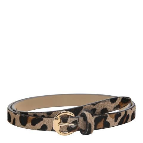 Laycuna London Women's Skinny Leather Animal Belt