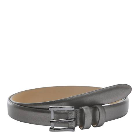 Laycuna London Women's Skinny Metallic Leather Belt