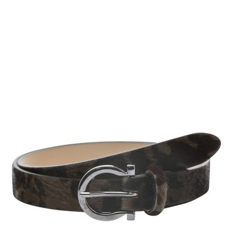 Laycuna London Women's Camo Animal Leather Belt