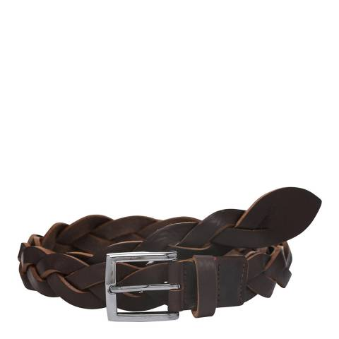 Laycuna London Women's Tan Plaited Leather Belt