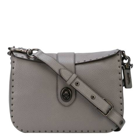 Coach Heather Grey Stud Page 27 Crossbody Bag