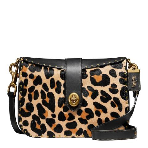 Coach Leopard Haircalf Crossbody Bag