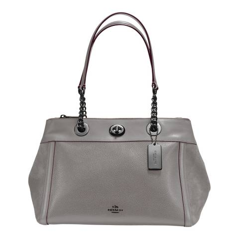 Coach Heather Grey Turnlock Edie Carryall