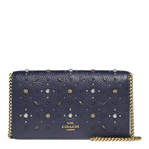 Coach Midnight Blue Embellished Callie Bag