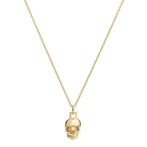 Coach Gold Swarovski Mini Skull Necklace