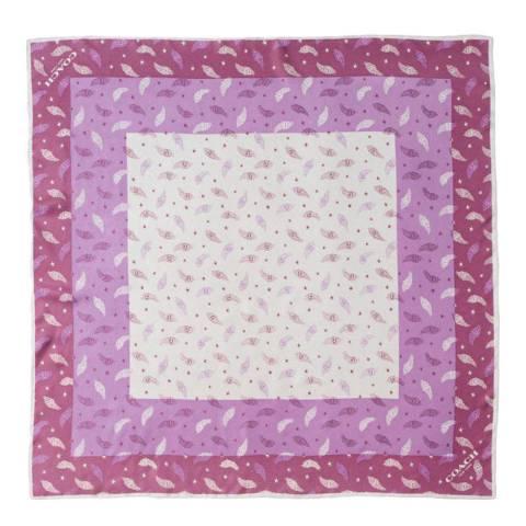 Coach Pink Heart Print Silk Twill Scarf