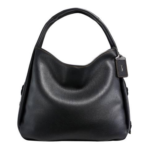 Coach Black Suede Bandit Hobo Bag 39