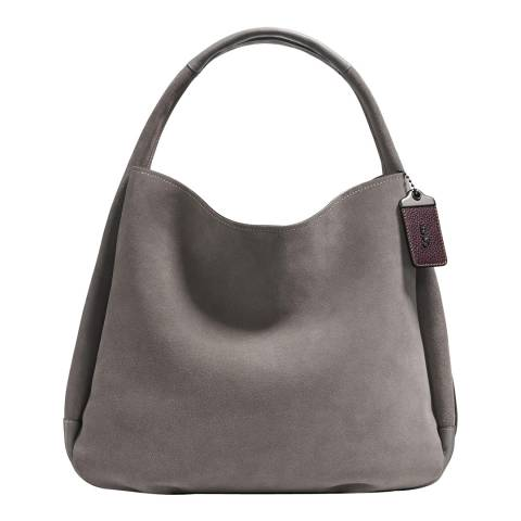 Coach Heather Grey Suede Bandit Hobo 39 Bag