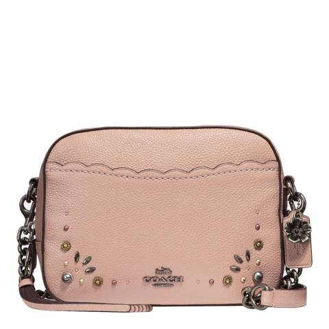 Pink Embellished Camera Bag by Coach