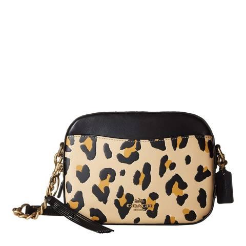 Coach Leopard Print Smooth Camera Bag