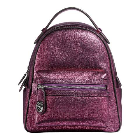 Coach Metallic Purple Campus Backpack 23