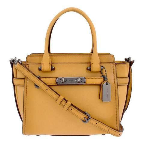 Coach Mustard Gunmetal Hardware Swagger 21 Bag