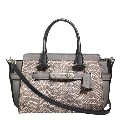 Coach Heather Grey Snakeskin Swagger 27 Bag