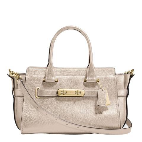Coach Soft Gold Metallic Swagger 27 Bag