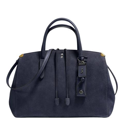 Coach Mightnight Navy Suede Cooper Carryall
