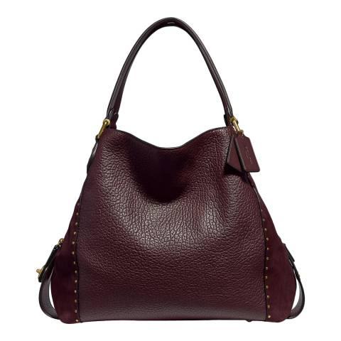 Coach Bordeaux Edie 42 Shoulder Bag