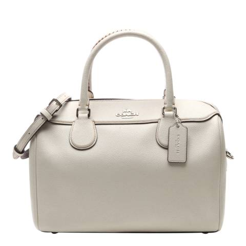 Coach White Large Bennett Satchel