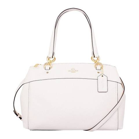 Coach White Large Brooke Carryall