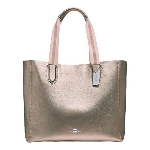Coach Metallic Gold Large Derby Tote