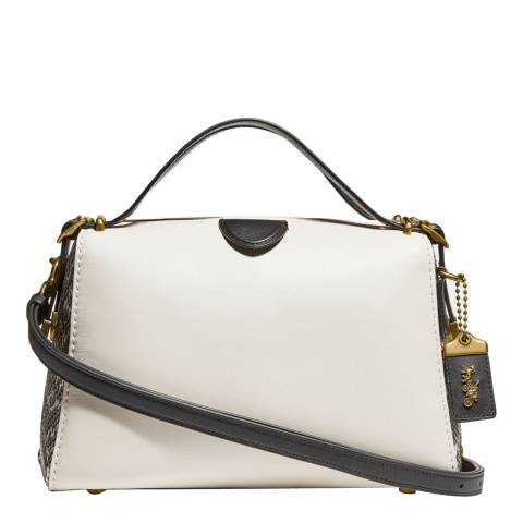 Coach White Laural Frame Bag