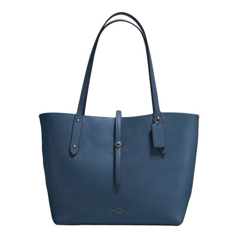 Coach Navy/Teal Market Tote