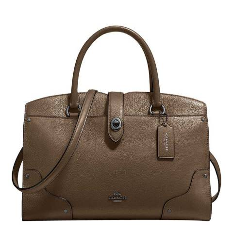 Brown Mercer 30 Satchel Bag by Coach