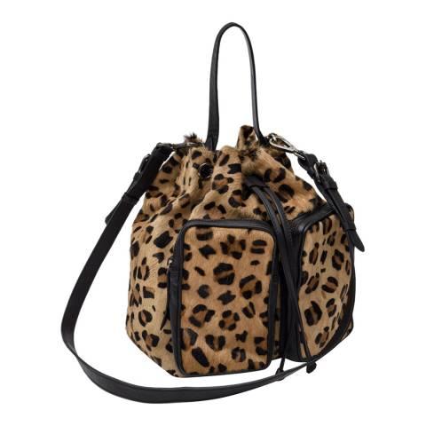 One Teaspoon Leopard Ida Bucket Bag