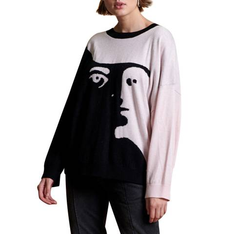 One Teaspoon CASHMERE WOOL LABYRINTH SWEATER