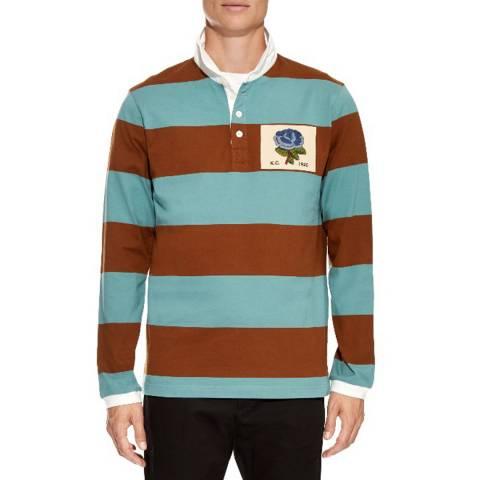 Kent & Curwen Blue Hoare Regular Rugby Shirt
