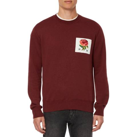 Kent & Curwen Red Flexford Crew Neck Sweater