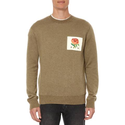 Kent & Curwen Olive Flexford Crew Neck Sweater