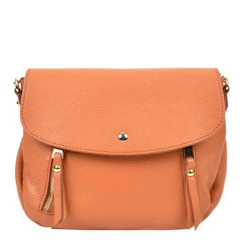 Sofia Cardoni Clay Zip Detail Flap Over Handbag