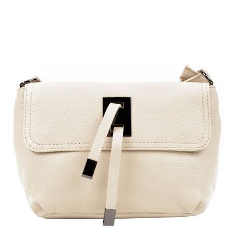 Sofia Cardoni Beige Tassel Leather Shoulder Bag