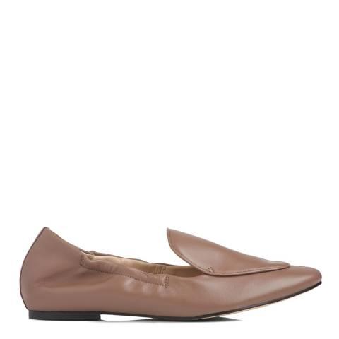 L K Bennett Cloud Pink Leather Darla Elastic Loafers