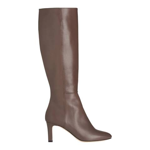 L K Bennett Grey Silver Birch Eloria Knee High Boot