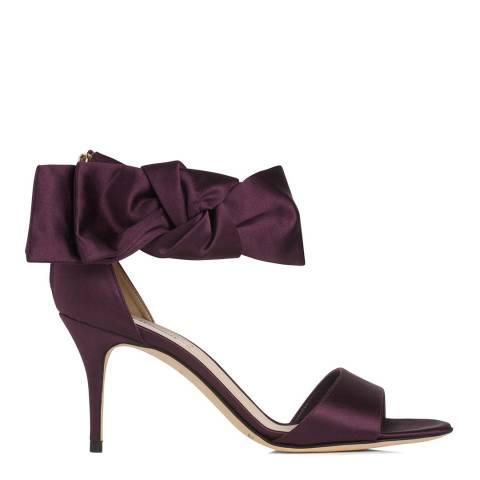 L K Bennett Loganberry Satin Agata Bow Heeled Sandals