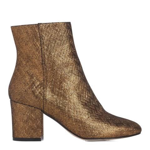 L K Bennett Warm Gold Woven Leather Jourdan Ankle Boots