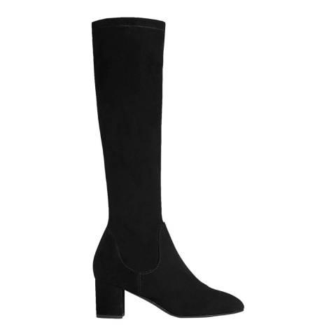 L K Bennett Black Keri Suede Knee High Boot