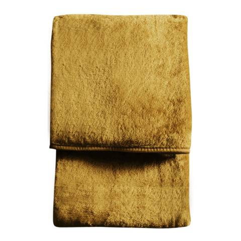Gallery Ochre Maximus Fleece Throw 150x210cm