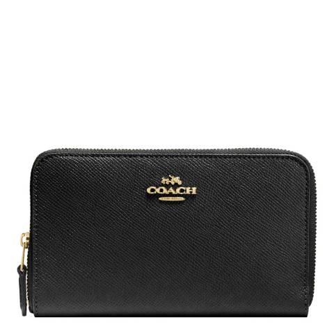 Coach Black Medium Leather Zip Around Wallet