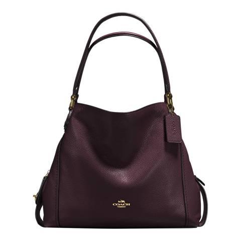 Coach Bordeaux Pebble Leather Edie 31 Shoulder Bag