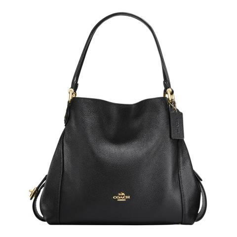 Coach Black Pebble Leather Edie 31 Shoulder Bag
