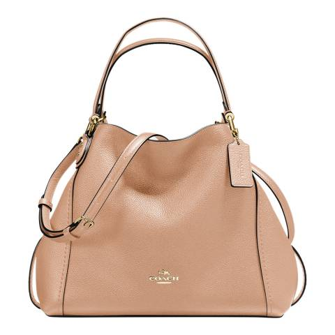 Coach Beechwood Pebble Leather Edie 28 Shoulder Bag
