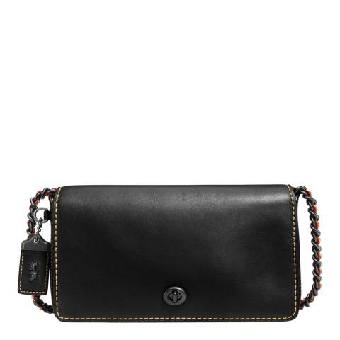 Coach Dinky Leather Crossbdoy with Chain