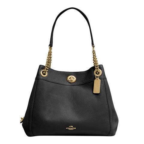 Coach Black Turnlock Edie Shoulder Bag