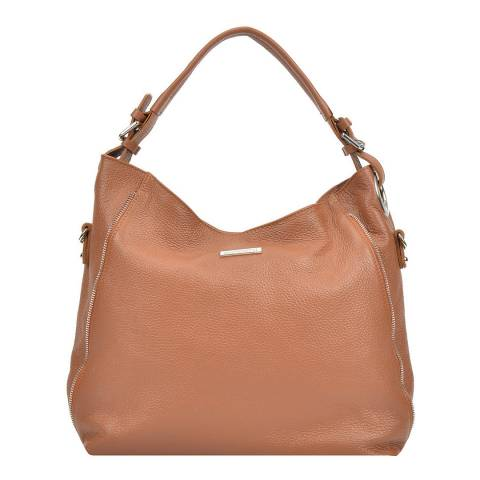 Mangotti Brown Leather Tote Bag