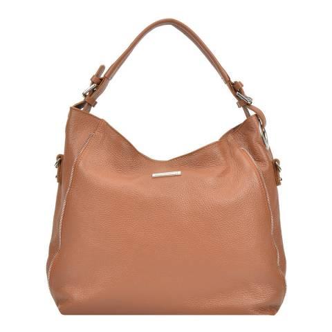 Mangotti Brown Leather Tote Bag